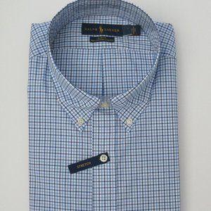 Ralph Lauren LS Slim Fit Stretch Plaid Shirt 2XL